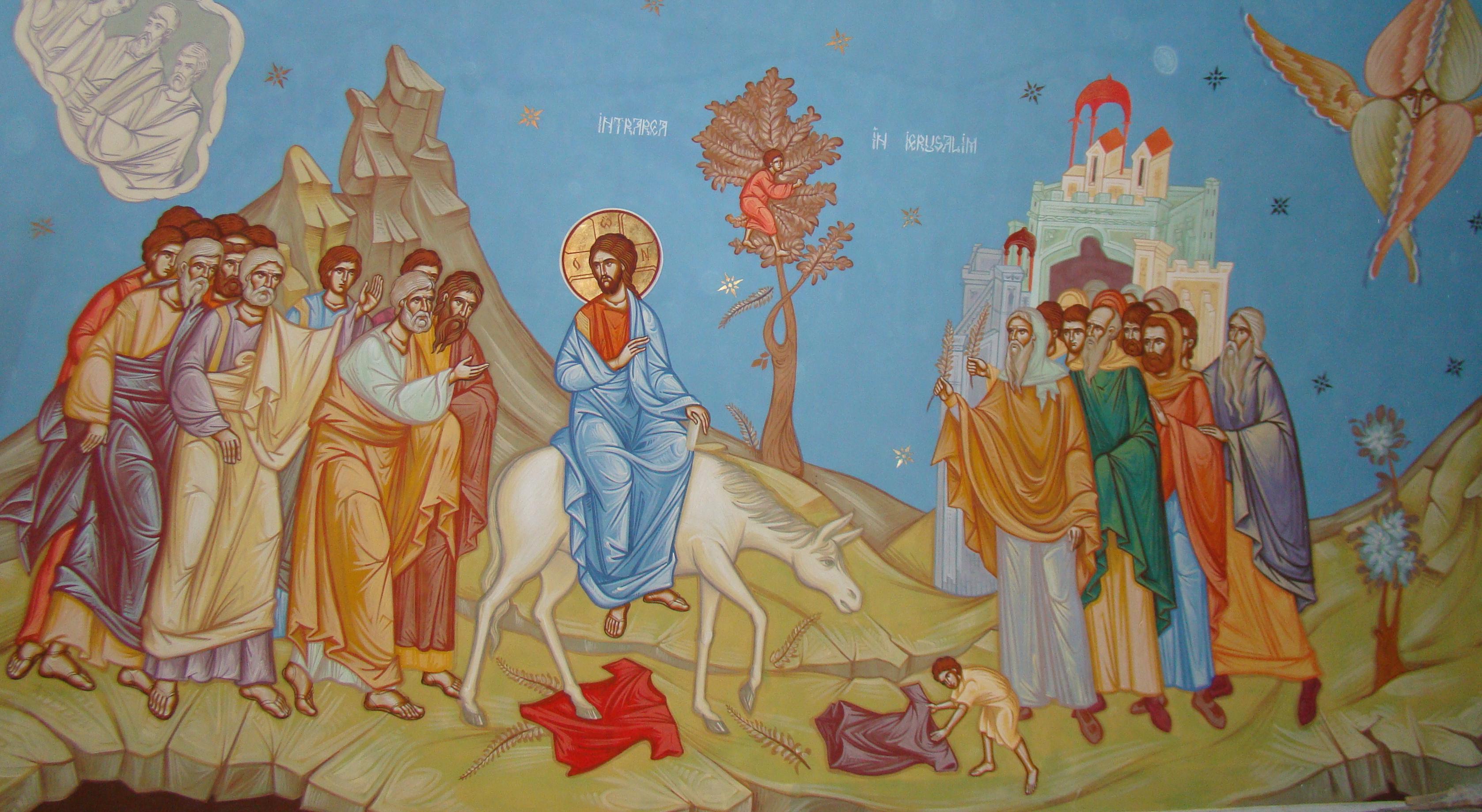 Image result for Duminica Floriilor. Intrarea Domnului în Ierusalim