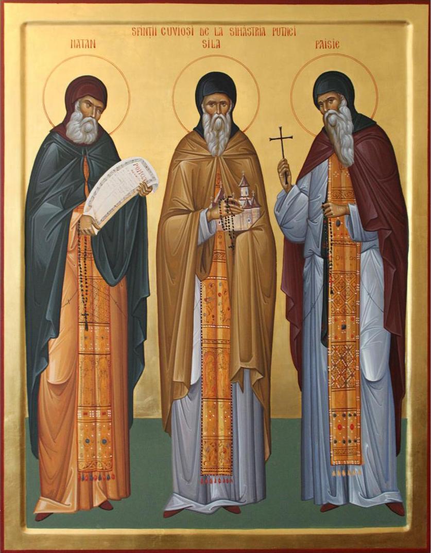 Sfinții Cuvioși Sila, Paisie și Natan de la Sihăstria Putnei ...
